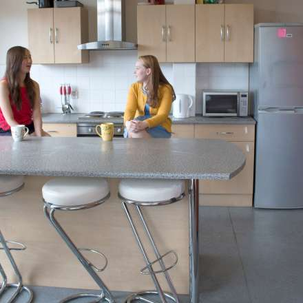 Shared kitchen in iQWave halls
