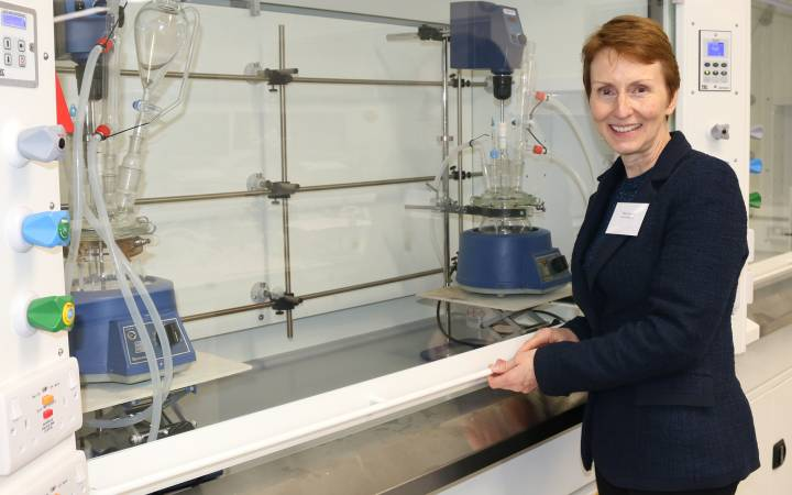 Astronaut Dr Helen Sharman and chemist Dame Professor Julia Higgins unveil Kingston University's new state-of-the-art science and technology facilities