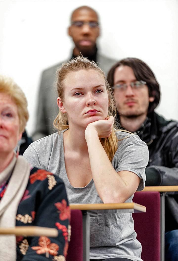 Postgraduate student at lecture