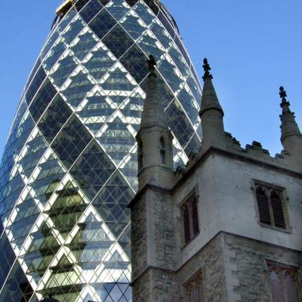 30 St Mary's Axe (better known as The Gherkin) is a London icon
