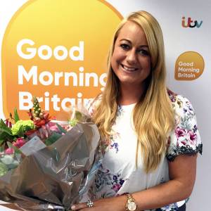 Kingston University-trained midwife receives award from ITV's Good Morning Britain for work helping bereaved families