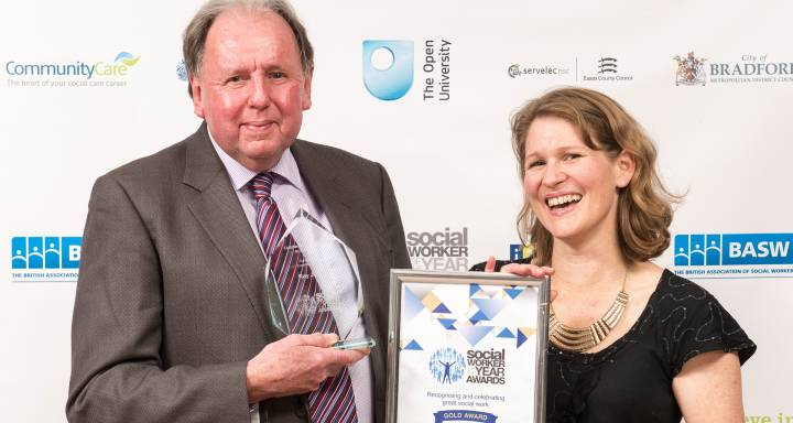 Kingston University expert urges rethink on public sector funding as he collects honour for outstanding contribution at Social Worker of the Year Awards