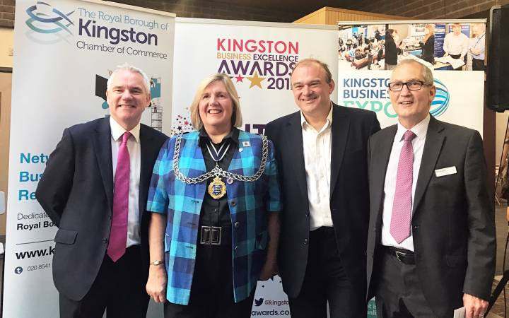 MPs Sir Ed Davey and Zac Goldsmith highlight benefits of greater collaboration with Kingston University at Kingston Business Expo