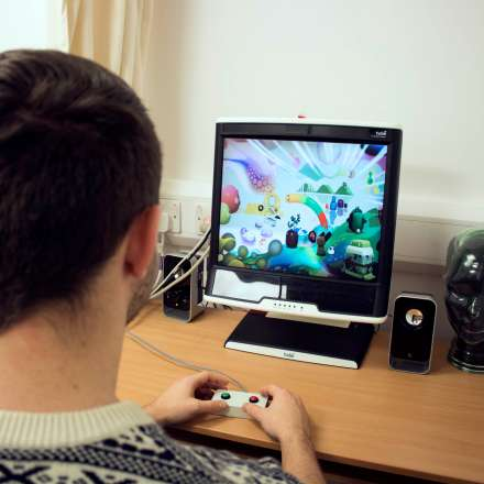 Eye tracking equipment used in psychology testing