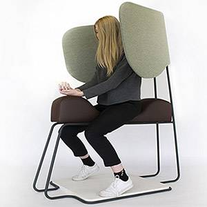 Kingston University product and furniture design student comes up with concept for meditation chair to help tired travellers unwind during airport stopovers