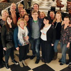 Kingston University choir mixes with royalty and top celebrities during Gareth Malone flash mob at launch of new London hotel, The Ned