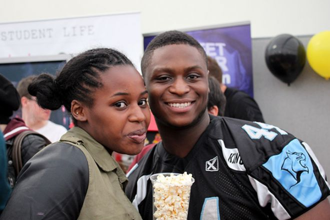 Students at the Freshers\' Fayre