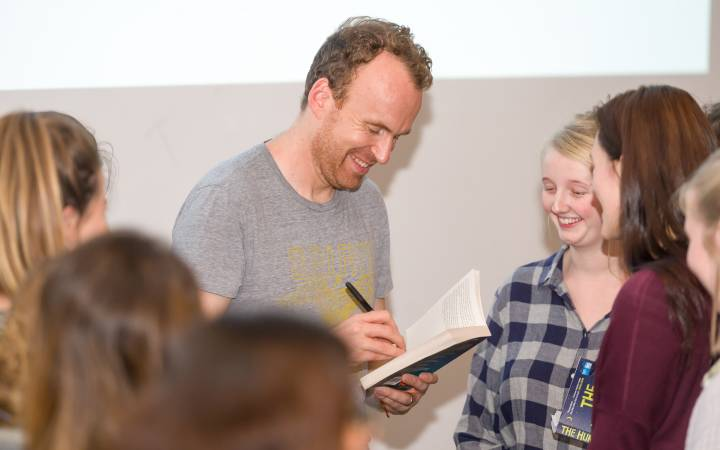Author Matt Haig capativates students with thoughts on writing, reading and what it means to be human at special event  held as part of Kingston University's Big Read project