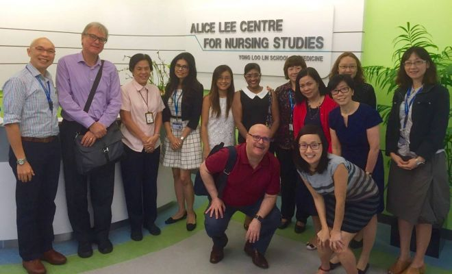 Dr Di Napoli in the Alice Lee Centre for Nursing Studies