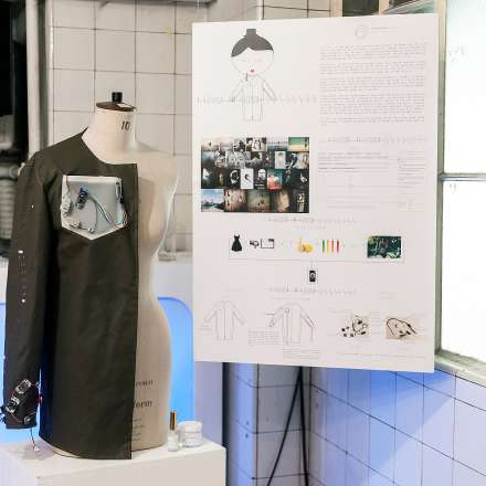 Exhibition stand at the MA Fashion show