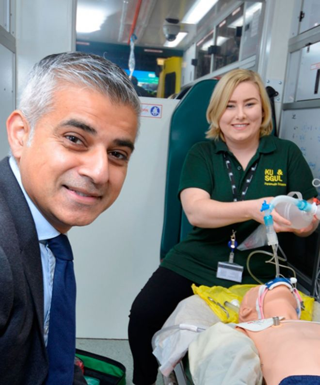 Tooting MP Sadiq Khan said the centre was a vital resource to deliver world class training for paramedics.