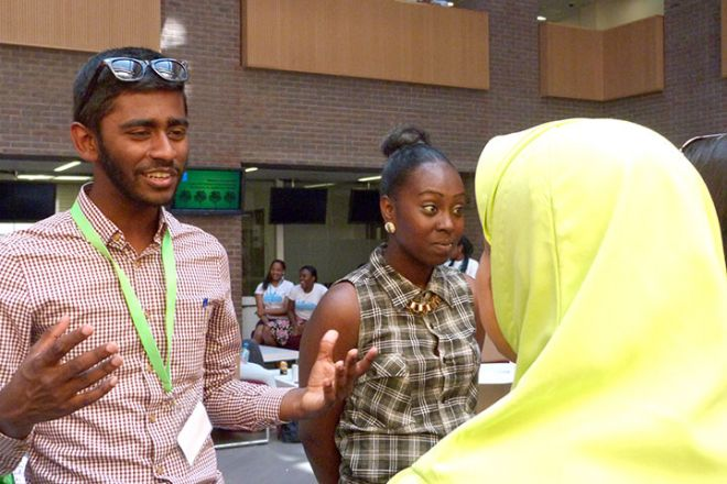 Students from the Beyond Barriers scheme