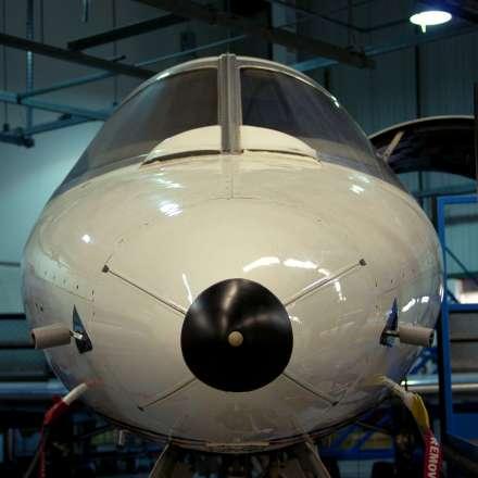 Learjet hangar