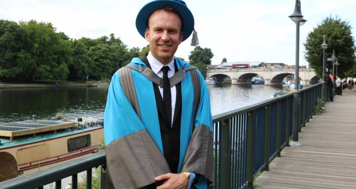 Acclaimed novelist and screenwriter Matt Haig shares top tips on life after graduation upon receiving Honorary Doctorate from Kingston University
