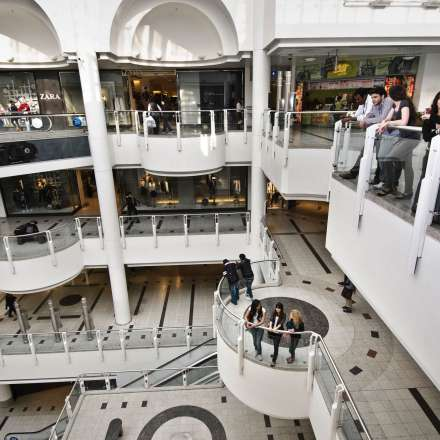 Inside the Bentalls shopping centre