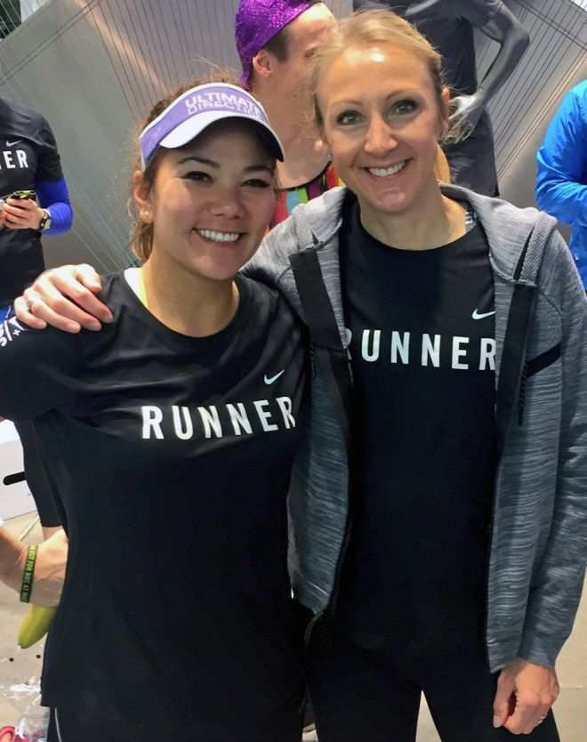 Susie Chan with British marathon world record holder Paula Radcliffe
