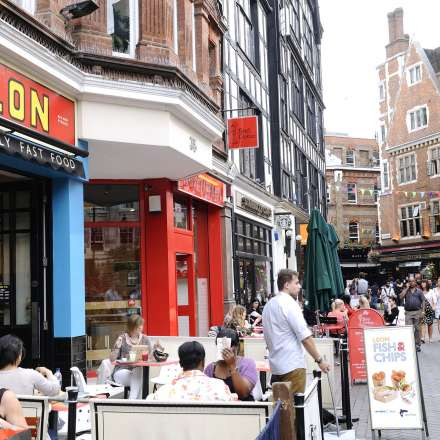 Eating out in some of London's outside cafes