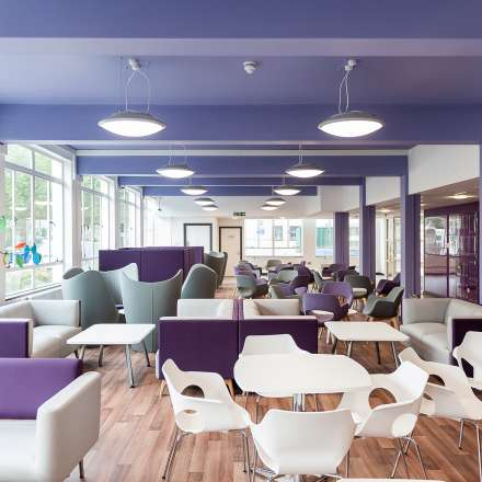 Students union social space on Penrhyn Road campus