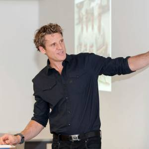 Olympian adventurer James Cracknell inspires Sports Performance students as he talks about his sports challenges and goals