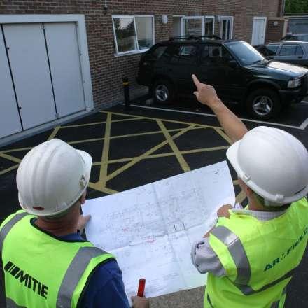 Men on building site