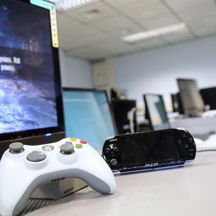 Games consoles in the computer gaming laboratory