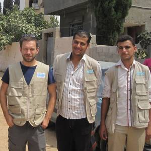 Amputee rehabilitation specialist from Kingston University and St George's, University of London travels to Gaza to support teams treating residents caught up in conflict