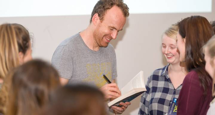 Author Matt Haig talks to Kingston University students about writing, reading and what it means to be human