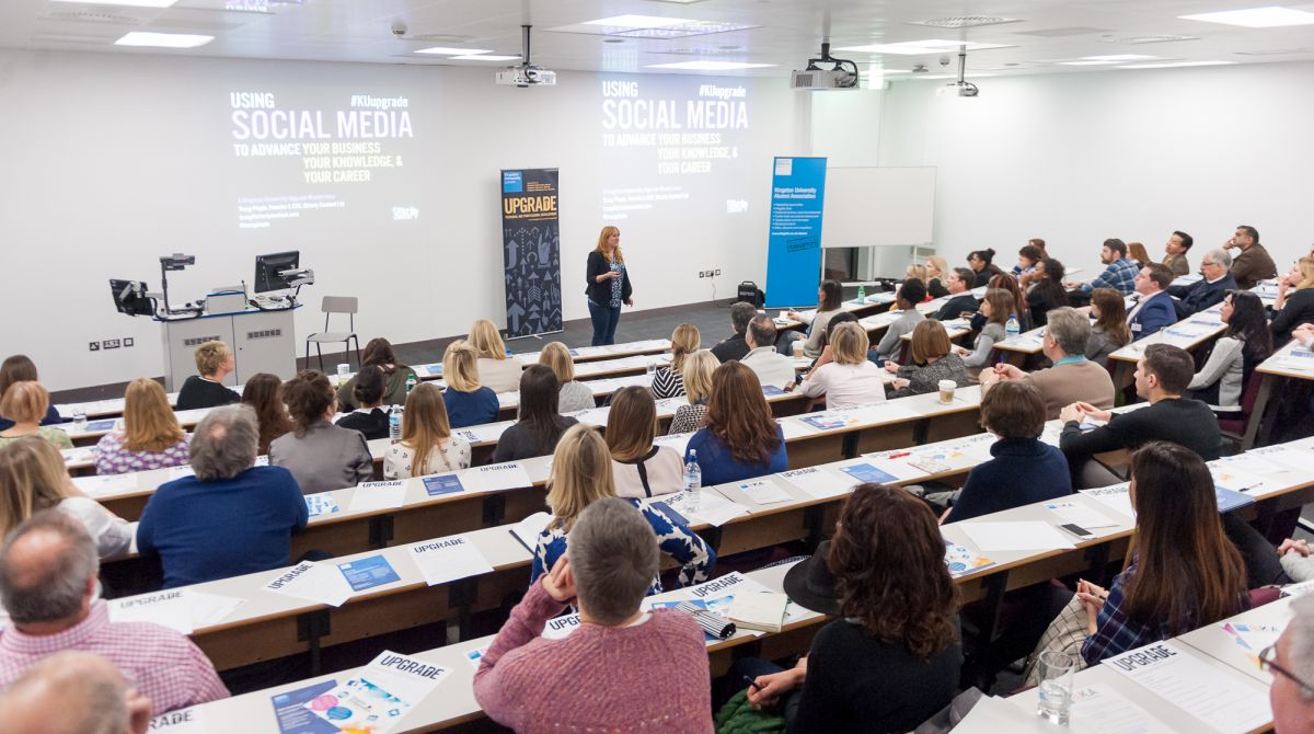 Alumni, students and staff 'Upgrade' their social media skills at the final masterclass of this year's series