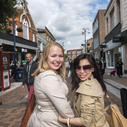 Shopping trip in Kingston's pedestrian walkway