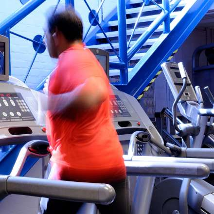 Exercising on the treadmill