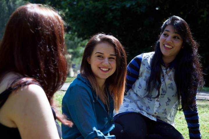 Students at Kingston Hill campus