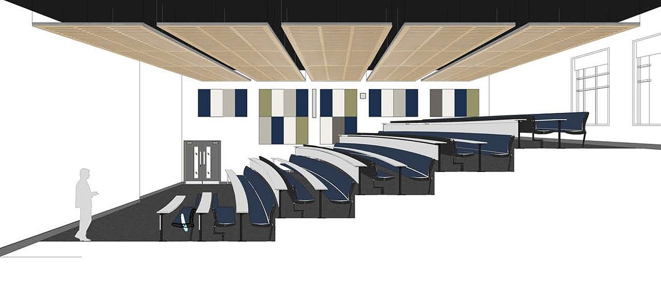 Plan for the Jacqueline Wilson lecture theatre upgrade