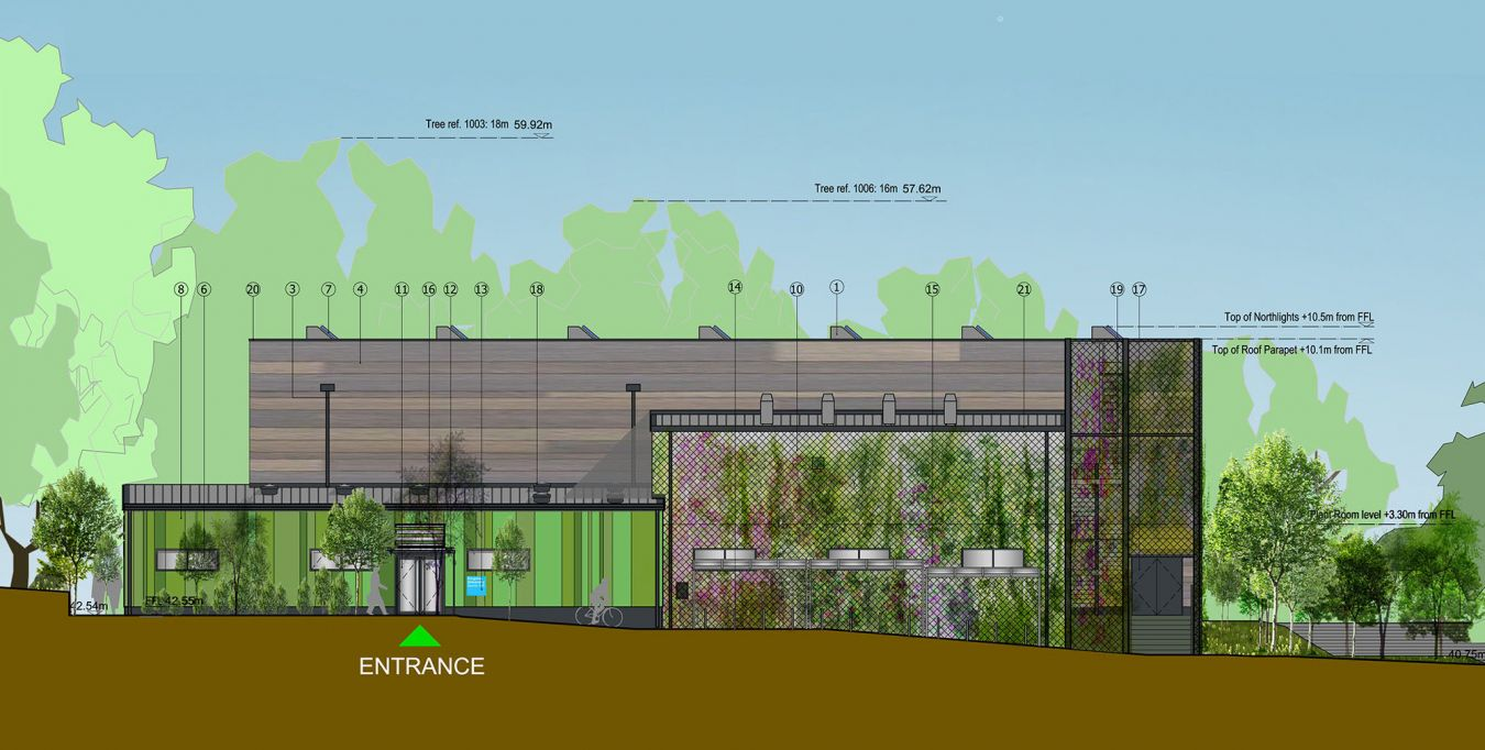Architects\' plans for the new sports hall at Kingston Hill