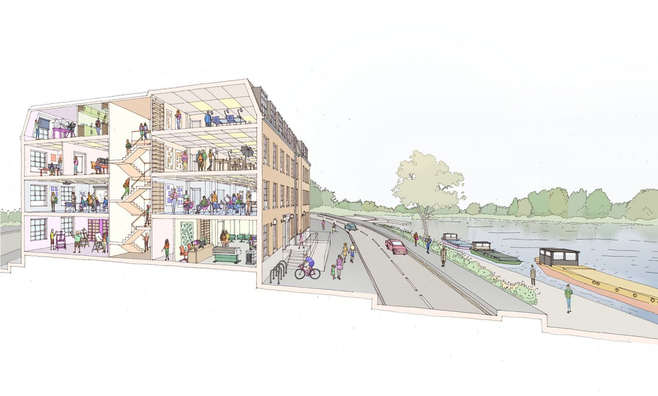Sketch of River House