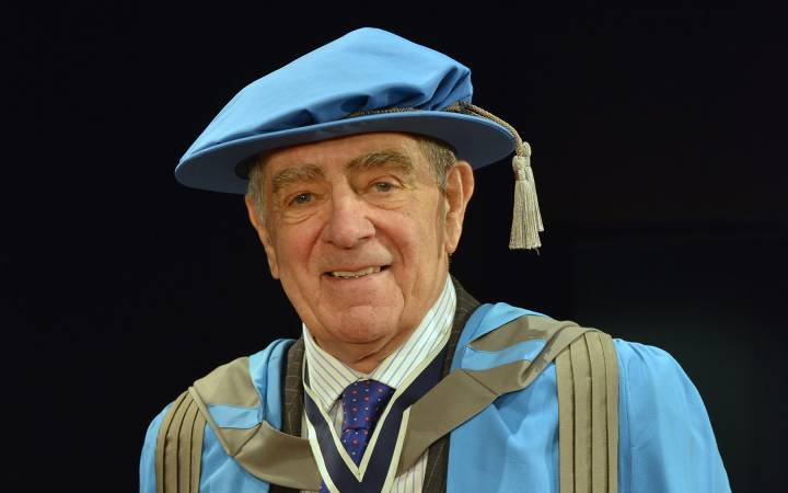 Former advertising agency guru and community ambassador Colonel Geoffrey Godbold OBE awarded honorary doctorate by Kingston University