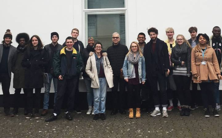 Esteemed music producer Tony Visconti shares tips on working with artists including David Bowie and Marc Bolan during Kingston University masterclass