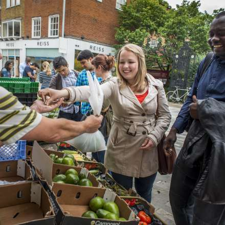 Pick up some bargains at the fresh produce stalls