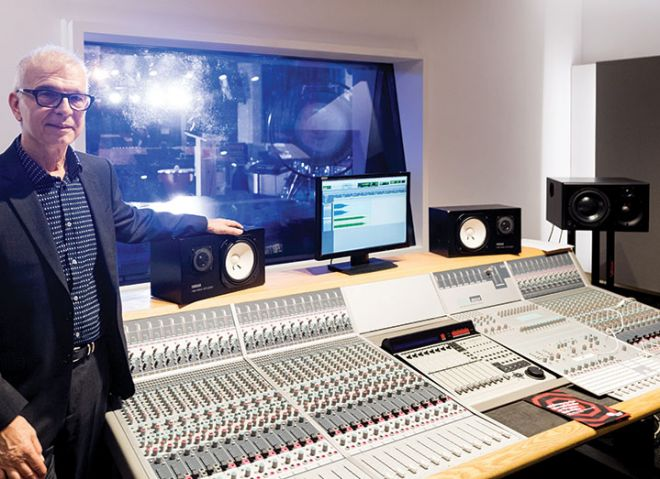 Tony Visconti in the Kingston Hill studio