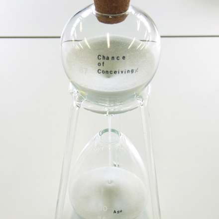 Student work - sand timer 'Conception'
