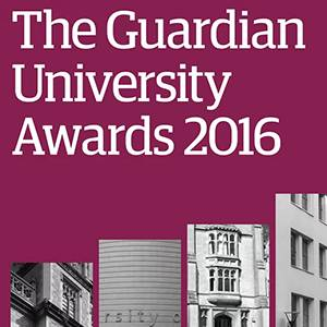 Kingston University scores success for third year running at Guardian newspaper's 2016 Awards