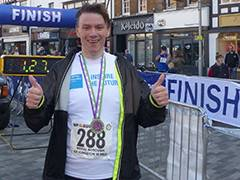 Kingston University graduate gets his running shoes on to raise funds for care leavers in Royal Borough of Kingston 10-mile challenge