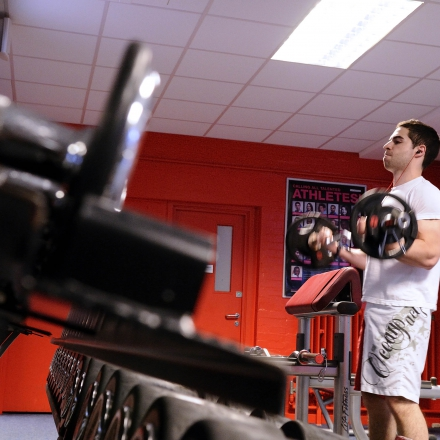 The fitness centre offers students the opportunities to lift some weights