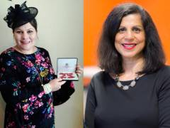 Kingston University diversity and outreach champions receive Queen's Birthday Honours' awards during royal palace investiture ceremonies