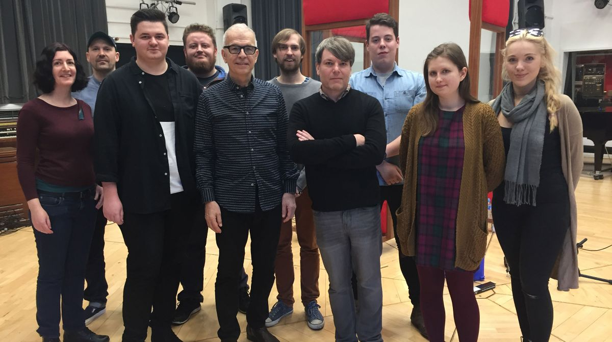 Award-winning record producer Tony Visconti returns to Kingston University for the inaugural Visconti Winter School