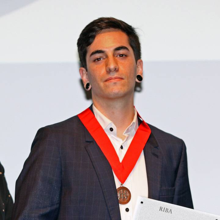 Kingston University architecture graduate Simon Dean awarded the Royal Institute of British Architects (RIBA) Bronze Medal for the best degree-level design project