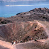 Volcanic crater in Santorini