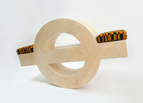 Clare Newsam's take on London Underground's famous logo saw the motif swinging into action as a seesaw.