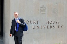 Lawyer Graeme Mew, who will represent Britain at the 2012 Games as one of only 12 legal experts on the athletes' court of appeal