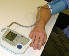 Pharmacy students have been offering free blood pressure tests.