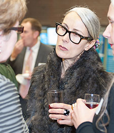 Caryn Franklin talking with Helen Trott